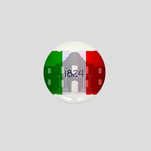 The Flag of Alamo Mini Button
