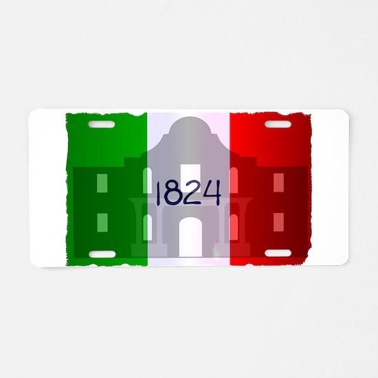 The Flag of Alamo Aluminum License Plate