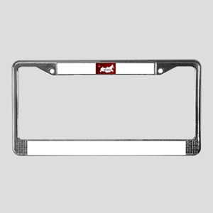 Russian Flag and Map License Plate Frame