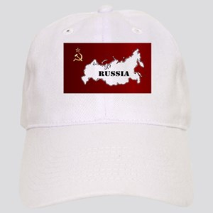 Russian Flag and Map Cap