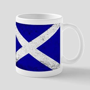 Scotish Flag Grunge Mugs