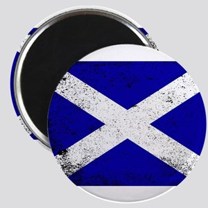 Scotish Flag Grunge Magnets