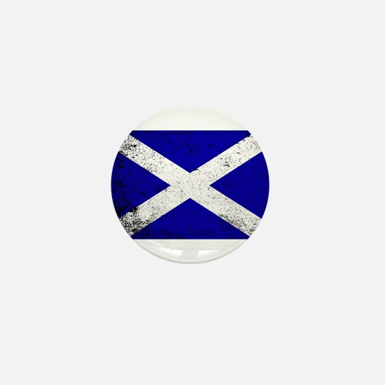 Scotish Flag Grunge Mini Button