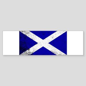 Scotish Flag Grunge Bumper Sticker