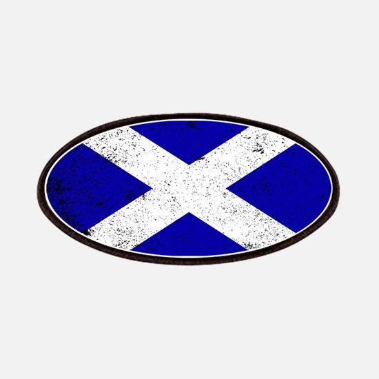 Scotish Flag Grunge Patch
