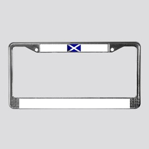 Scotish Flag Grunge License Plate Frame