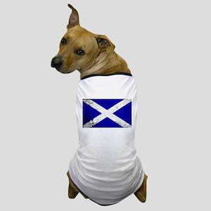 Scotish Flag Grunge Dog T-Shirt