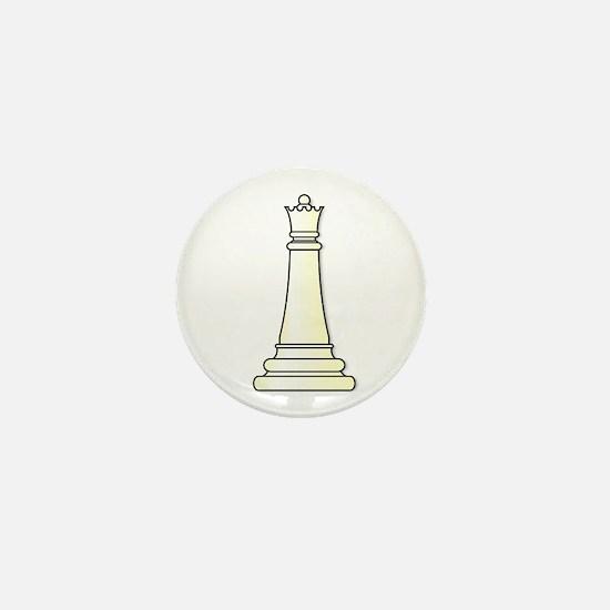 White Queen Mini Button