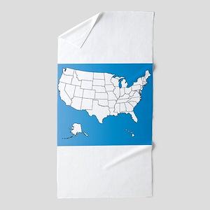 United States of America Beach Towel