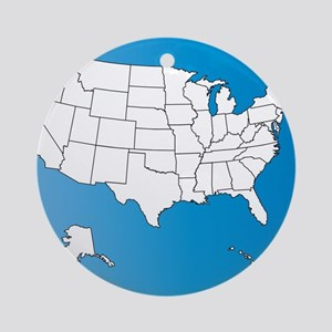 United States of America Round Ornament