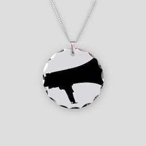 Megaphone Silhouette Necklace Circle Charm