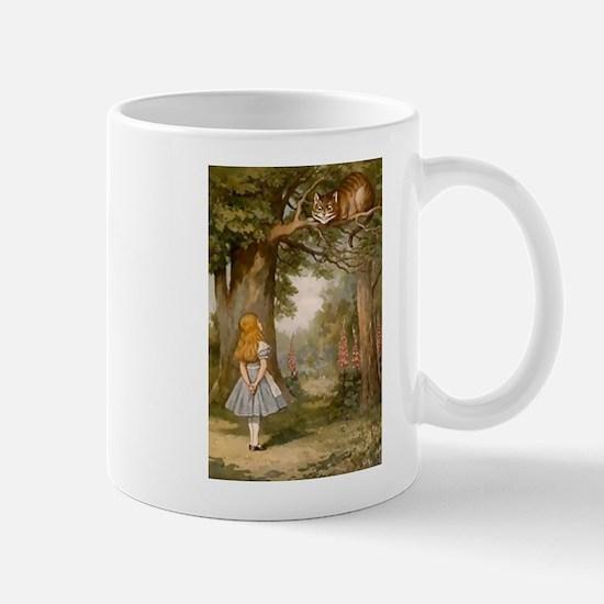 The Cheshire Cat & Alice Mugs