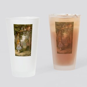 The Cheshire Cat & Alice Drinking Glass