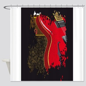 Guitar And Amplifier Grunge Shower Curtain