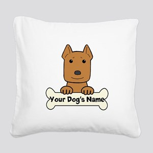 Personalized Pit Bull Square Canvas Pillow