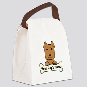 Personalized Pit Bull Canvas Lunch Bag