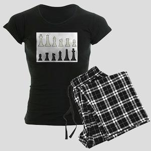 Chess Pieces Women's Dark Pajamas