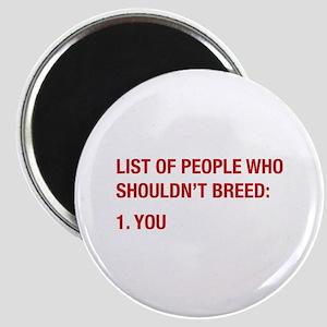 List Of People Magnet