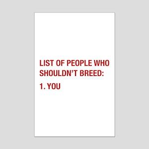 List Of People Mini Poster Print