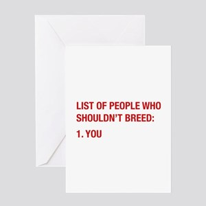 Mean greeting cards cafepress list of people greeting card m4hsunfo