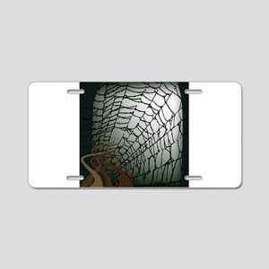 Halloween Spiders Web Aluminum License Plate