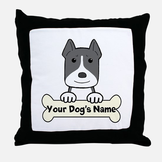 Personalized Pit Bull Throw Pillow