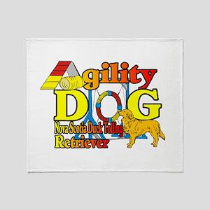 Duck Toller Agility Throw Blanket