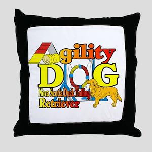 Duck Toller Agility Throw Pillow