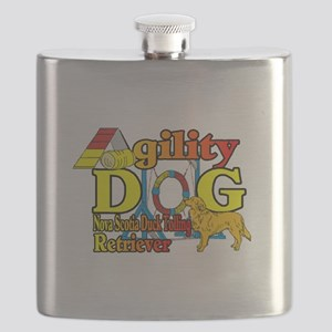 Duck Toller Agility Flask