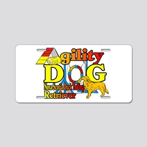 Duck Toller Agility Aluminum License Plate