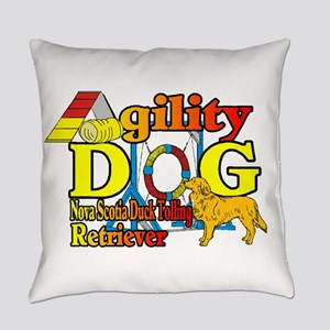 Duck Toller Agility Everyday Pillow