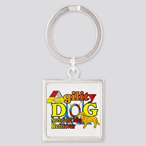 Duck Toller Agility Square Keychain