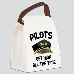 Pilots Get High Canvas Lunch Bag
