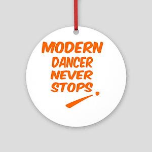Modern Dancer Never Stops Round Ornament