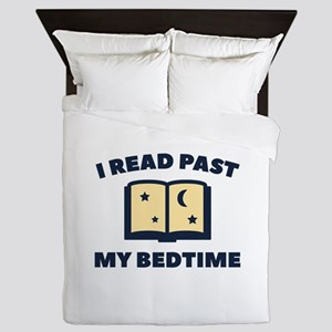 I Read Past My Bedtime Queen Duvet