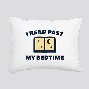 I Read Past My Bedtime Rectangular Canvas Pillow