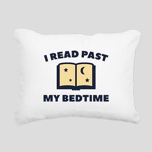 I Read Past My Bedtime Rectangular Canvas Pillow