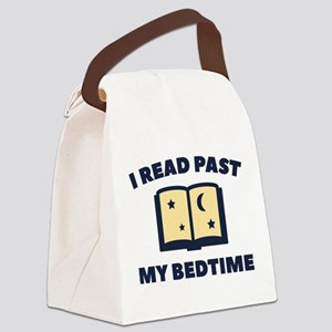 I Read Past My Bedtime Canvas Lunch Bag