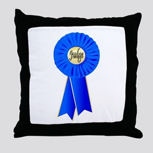 Judge Rosette Throw Pillow