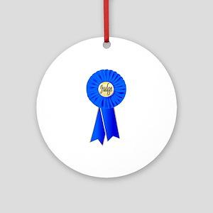 Judge Rosette Round Ornament