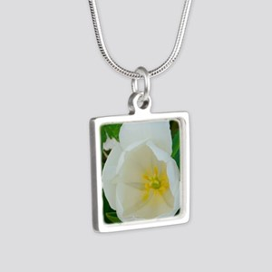 tulip Silver Square Necklace