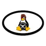 Pirate Tux Sticker (oval 50 Pk)