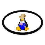 Aussie Tux Sticker (oval 10 Pk)