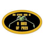 Bird Of Prey Sticker (oval)