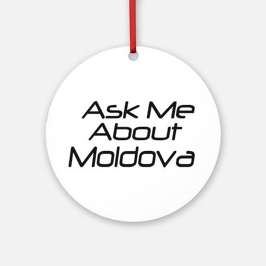Ask Moldova Ornament (Round)