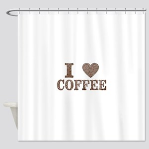 i love coffee Shower Curtain