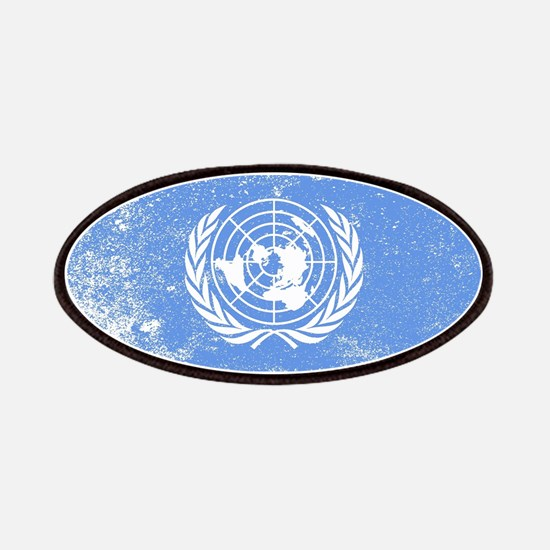 United Nations Flag Grunge Patch