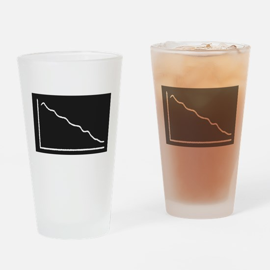 Decline Graph Drinking Glass