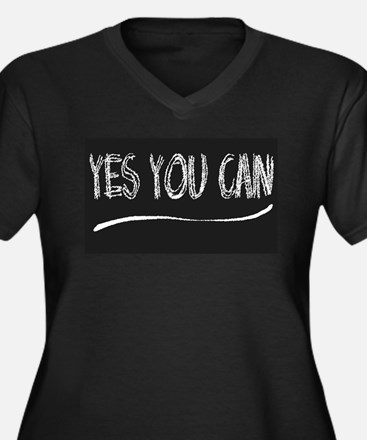 Yes You Can Blackboard Plus Size T-Shirt