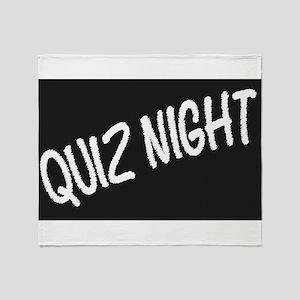 Quiz Night Blackboard Throw Blanket